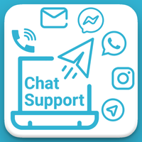 Social Chat Support Buttons
