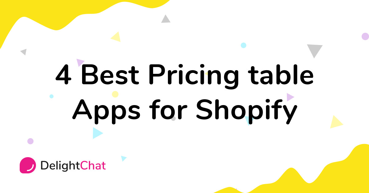 Best Shopify Pricing table Apps in 2021