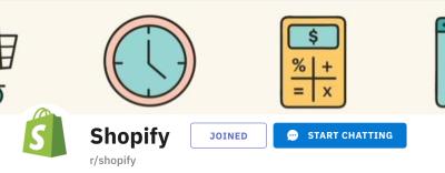 Shopify Reddit Community