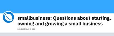 Smallbusiness Reddit Community