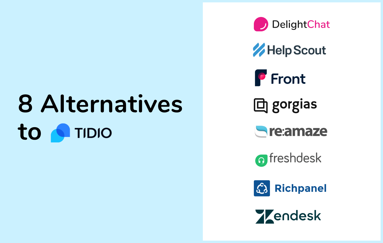 8 Tidio Alternatives to Step Up Your Store's Customer Service