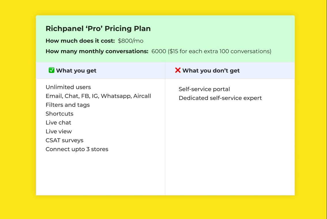 Richpanel Pro pricing plan