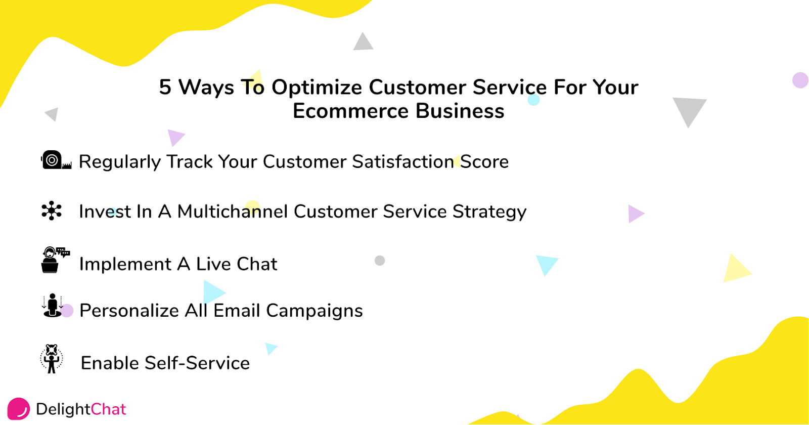 Infographic: 5 ways to optimize ecommerce customer service