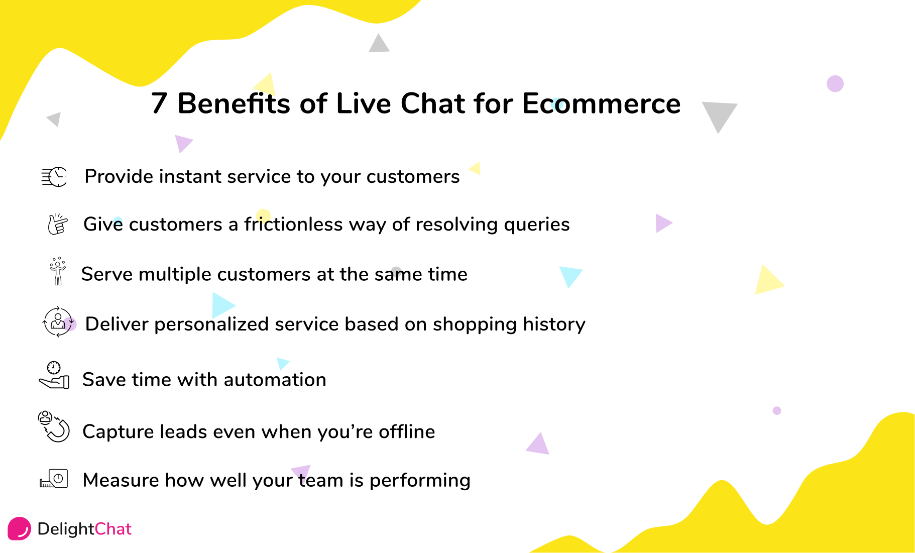 7 benefits of live chat for ecommerce infographic
