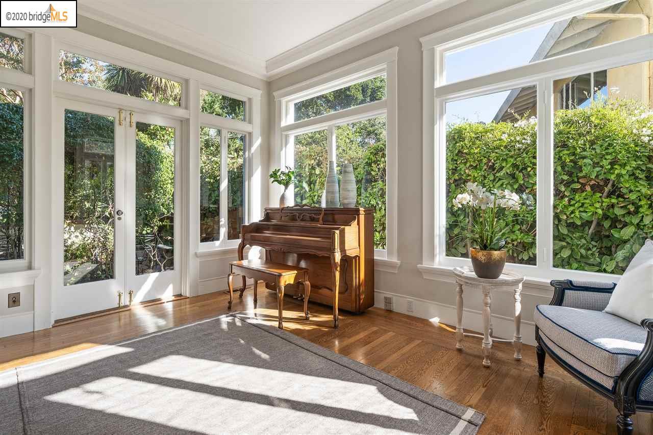 Ghirardelli Mansion sun room piano