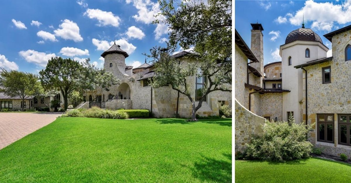 2401 Portofino Ridge Drive in Austin Texas Whimsical Castle exterior