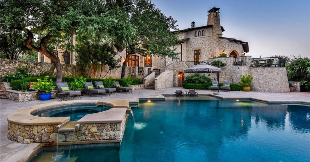 2401 Portofino Ridge Drive in Austin Texas Whimsical Castle pool