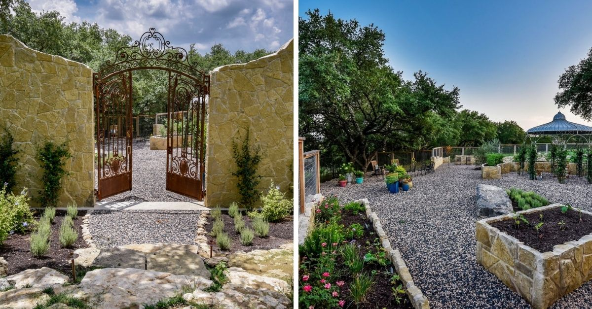 2401 Portofino Ridge Drive in Austin Texas Whimsical Castle exterior garden