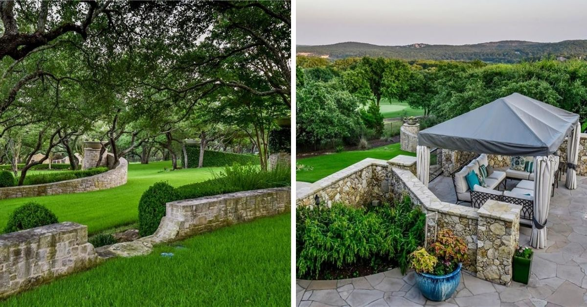 2401 Portofino Ridge Drive in Austin Texas Whimsical Castle grounds