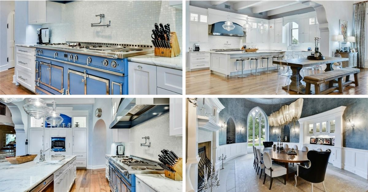 2401 Portofino Ridge Drive in Austin Texas Whimsical Castle kitchen