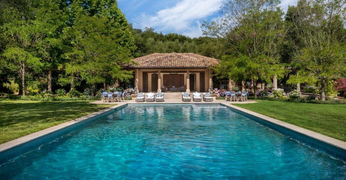 $50 Million California Home frog creek swimming pool
