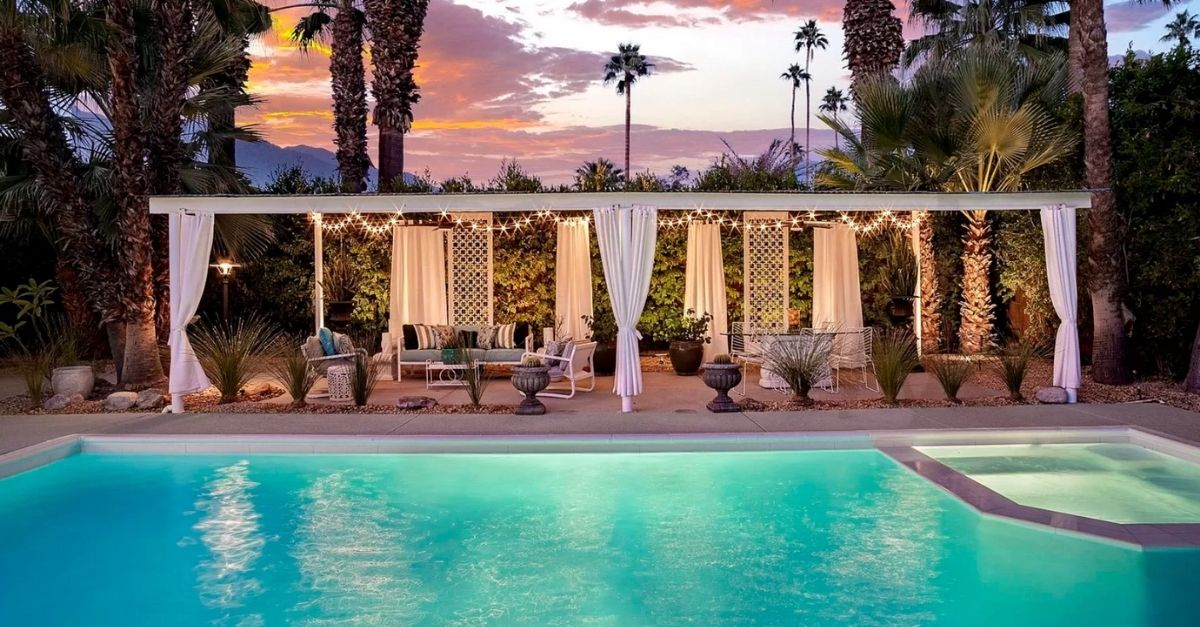 1110 E Via Altamira in Palm Springs, CA pool mid century modern