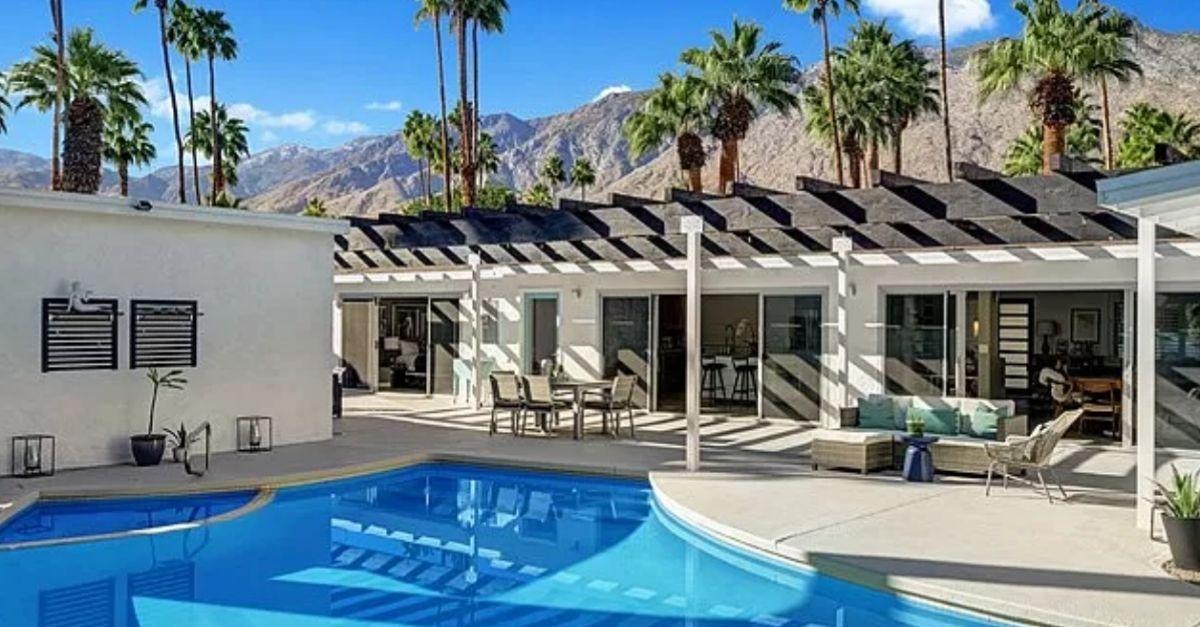 4 Palomino Road, Palm Springs, CA 92264 backyard