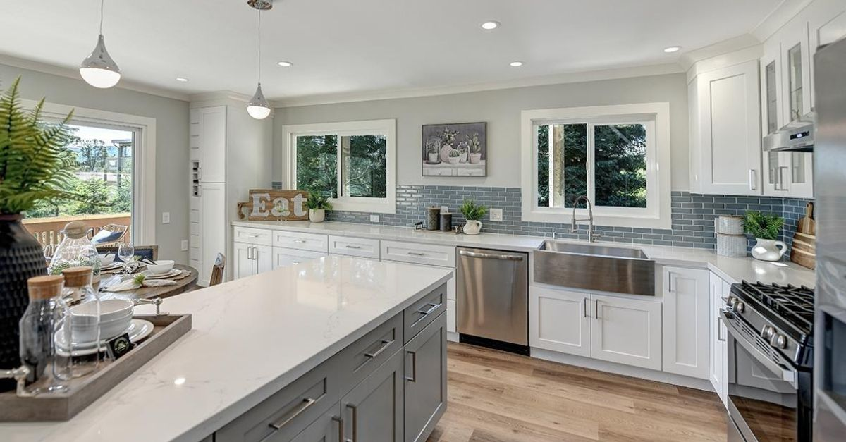 Modern looking kitchen of house for sale in Walnut Creek, California