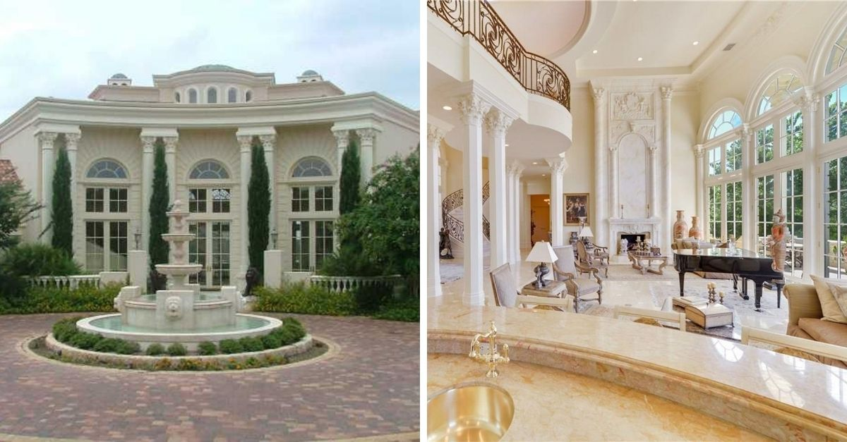 White Palladian style mansion for sale in Austin, Texas