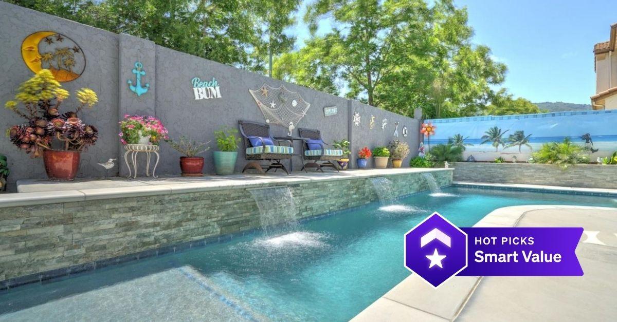 swimming pool in backyard of 960 Brook Way, Gilroy, CA 95020