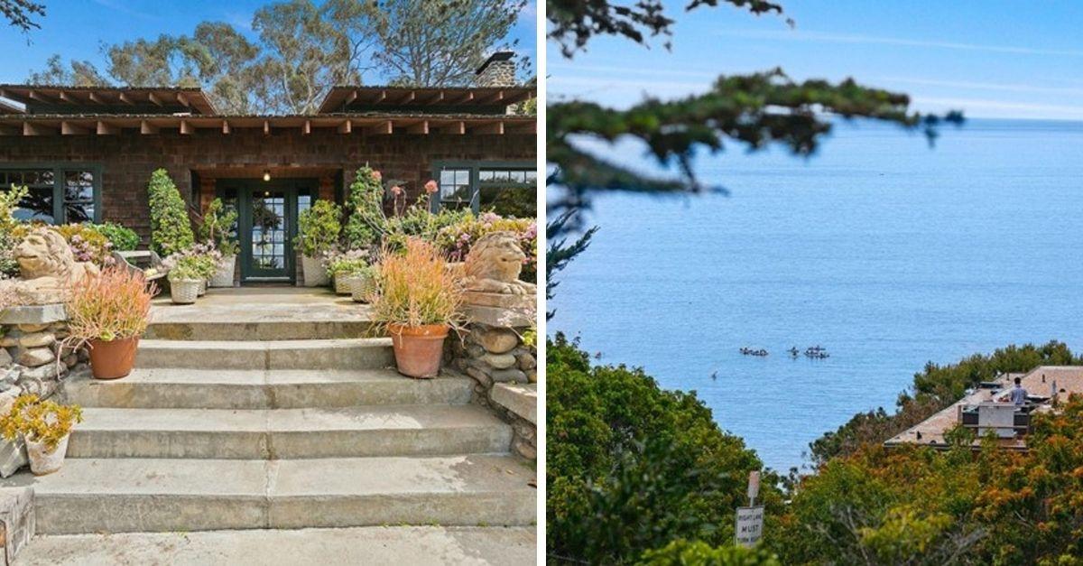 Shingle bungalow in La Jolla, California with sea views