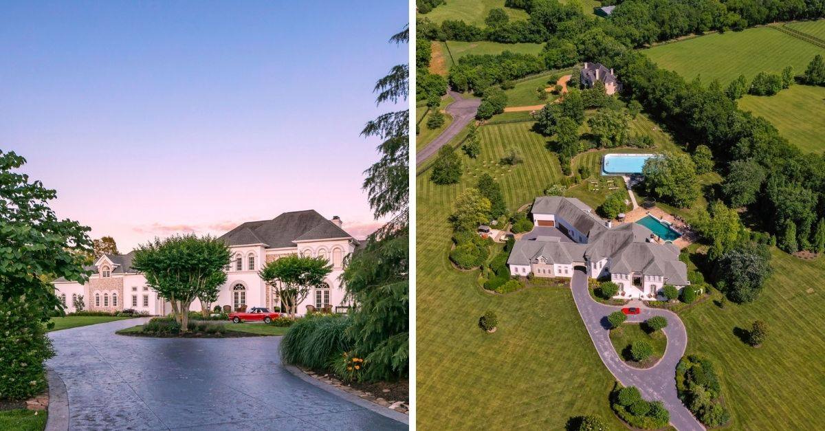 Luxury mansion on 8 green acres in Tennessee