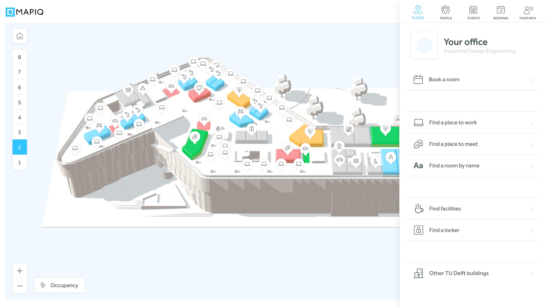 Screenshot of the Mapiq platform