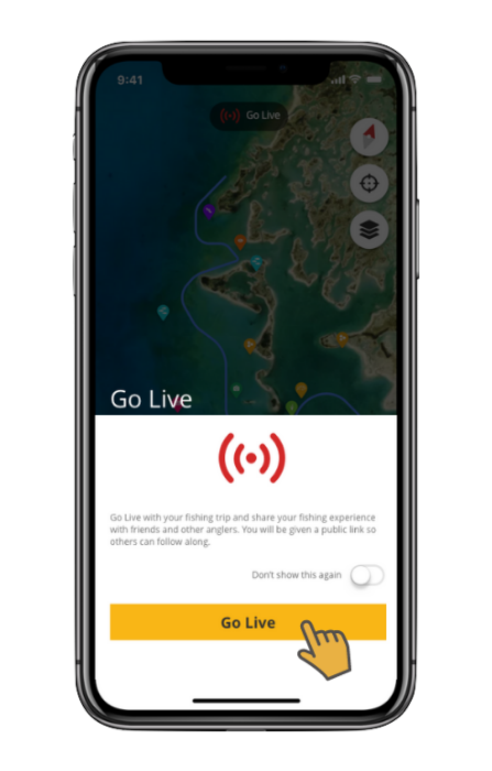 live streaming app interface