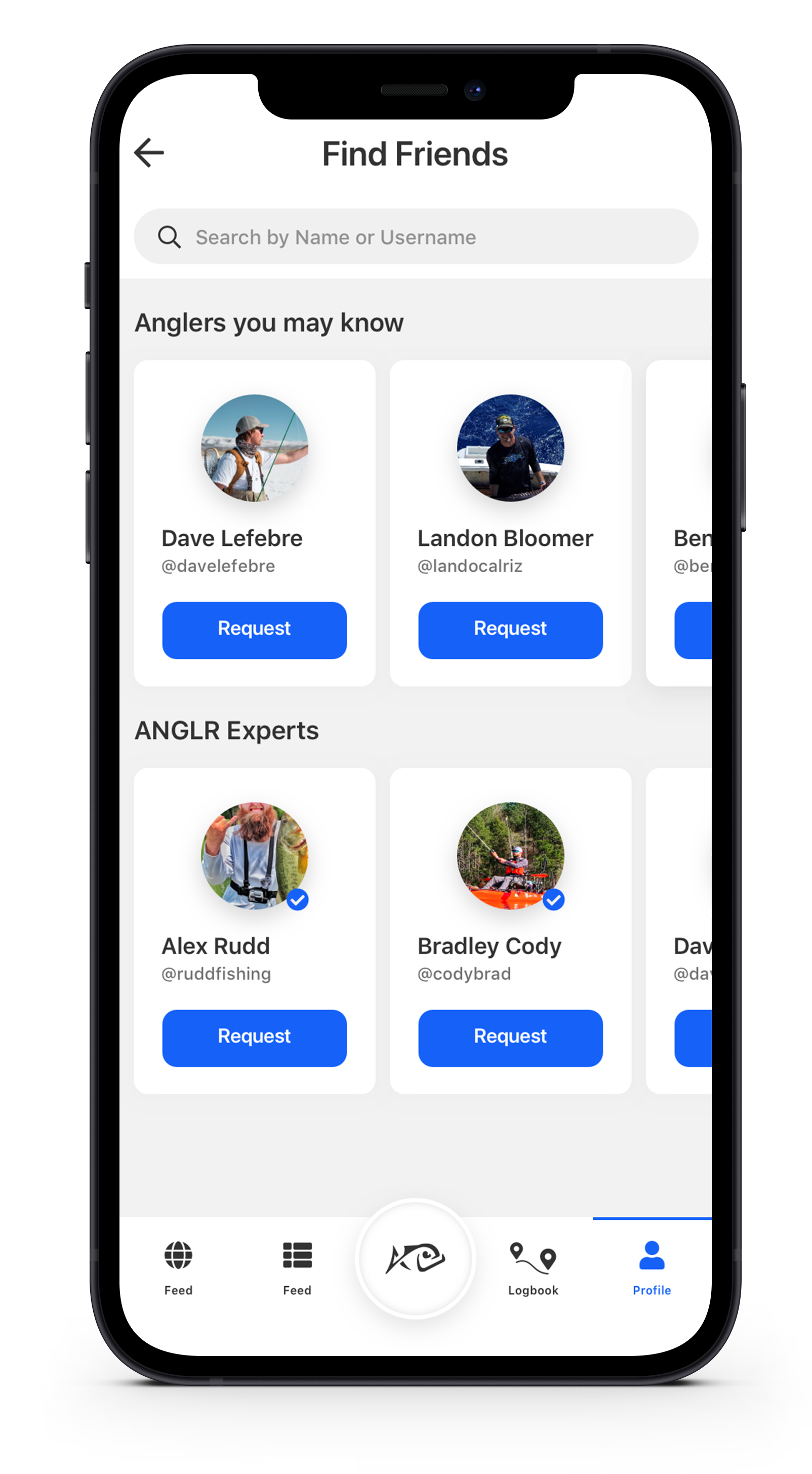 Connect with Friends on The ANGLR App