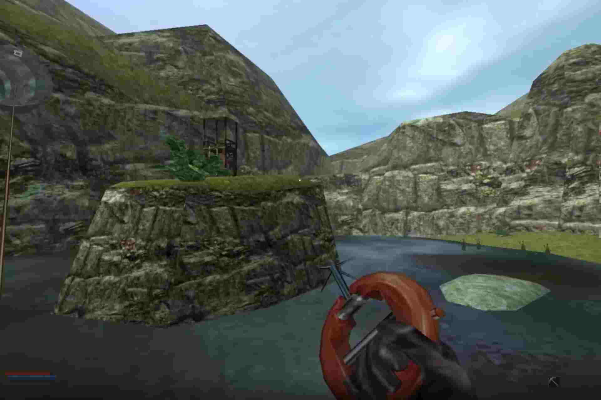 The Belt buckle is used as a Zip-line gadget in No one lives forever game.