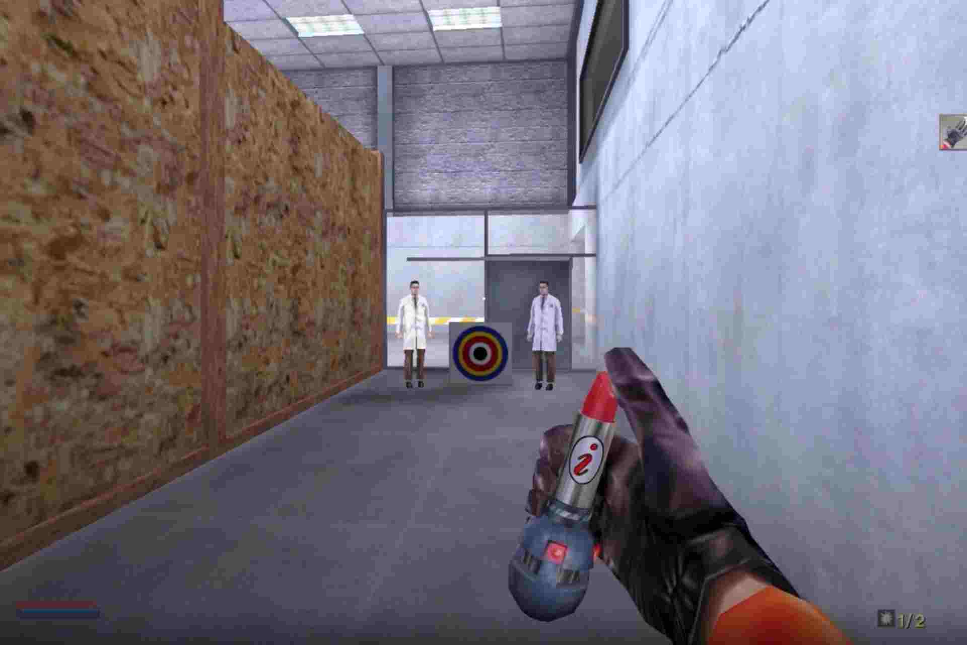 Lipstick explosive is a disguised grenade weapon in No one lives forever game.
