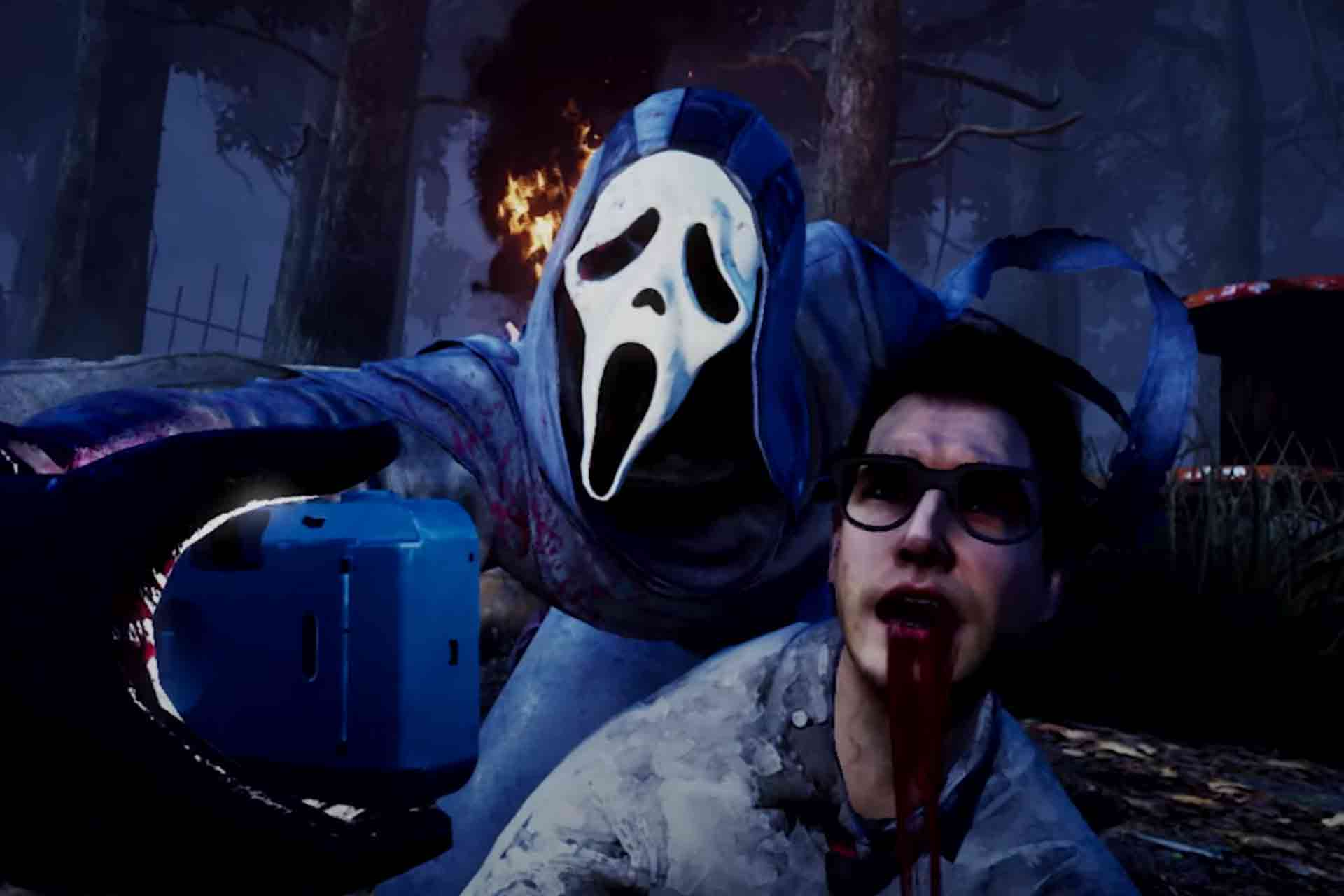 Ghost Face character from the Scream series is a killer character in Dead by Daylight game.