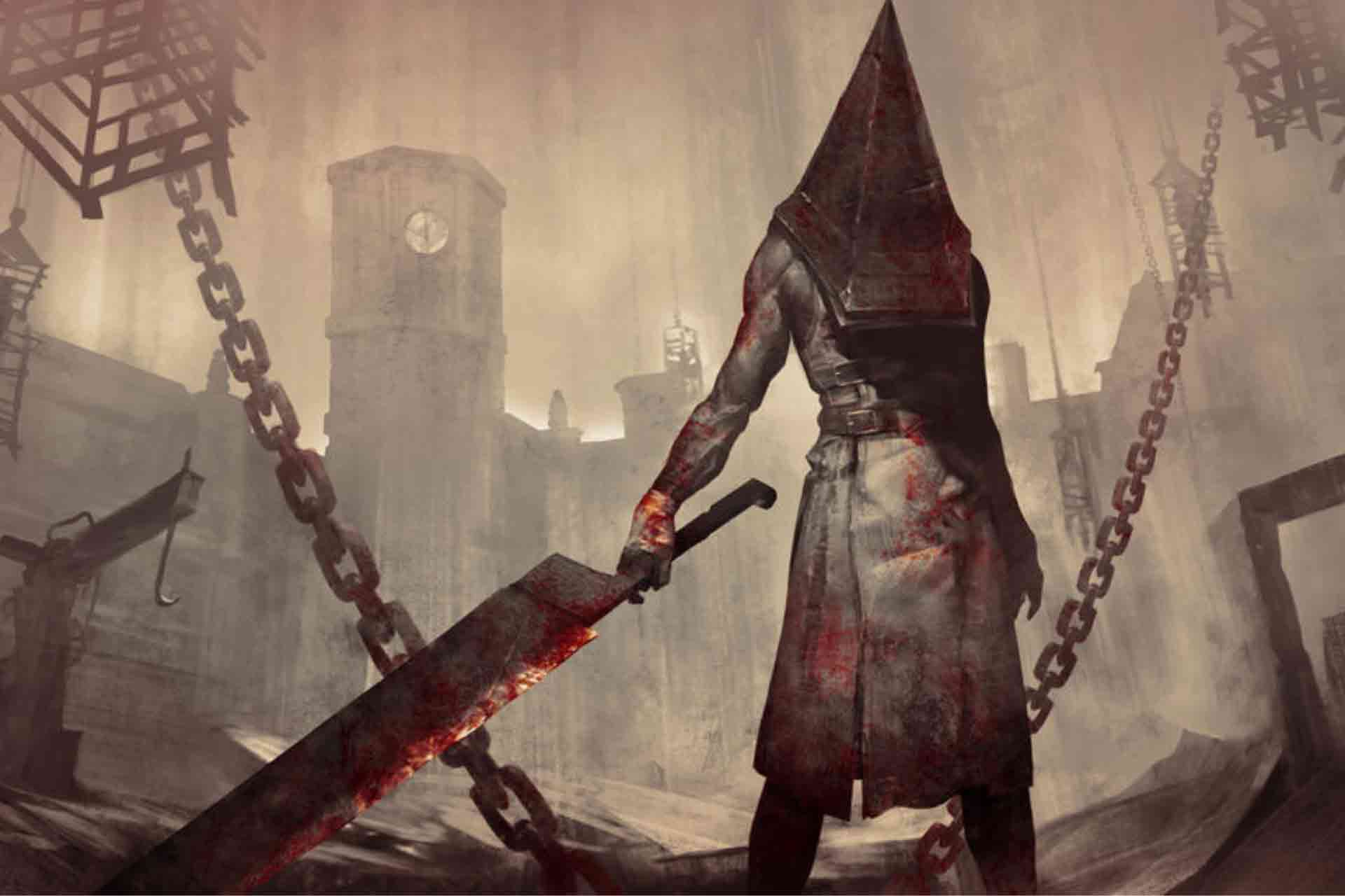 The Pyramid Head from the Silent Hill series as The Executioner in Dead by Daylight game.