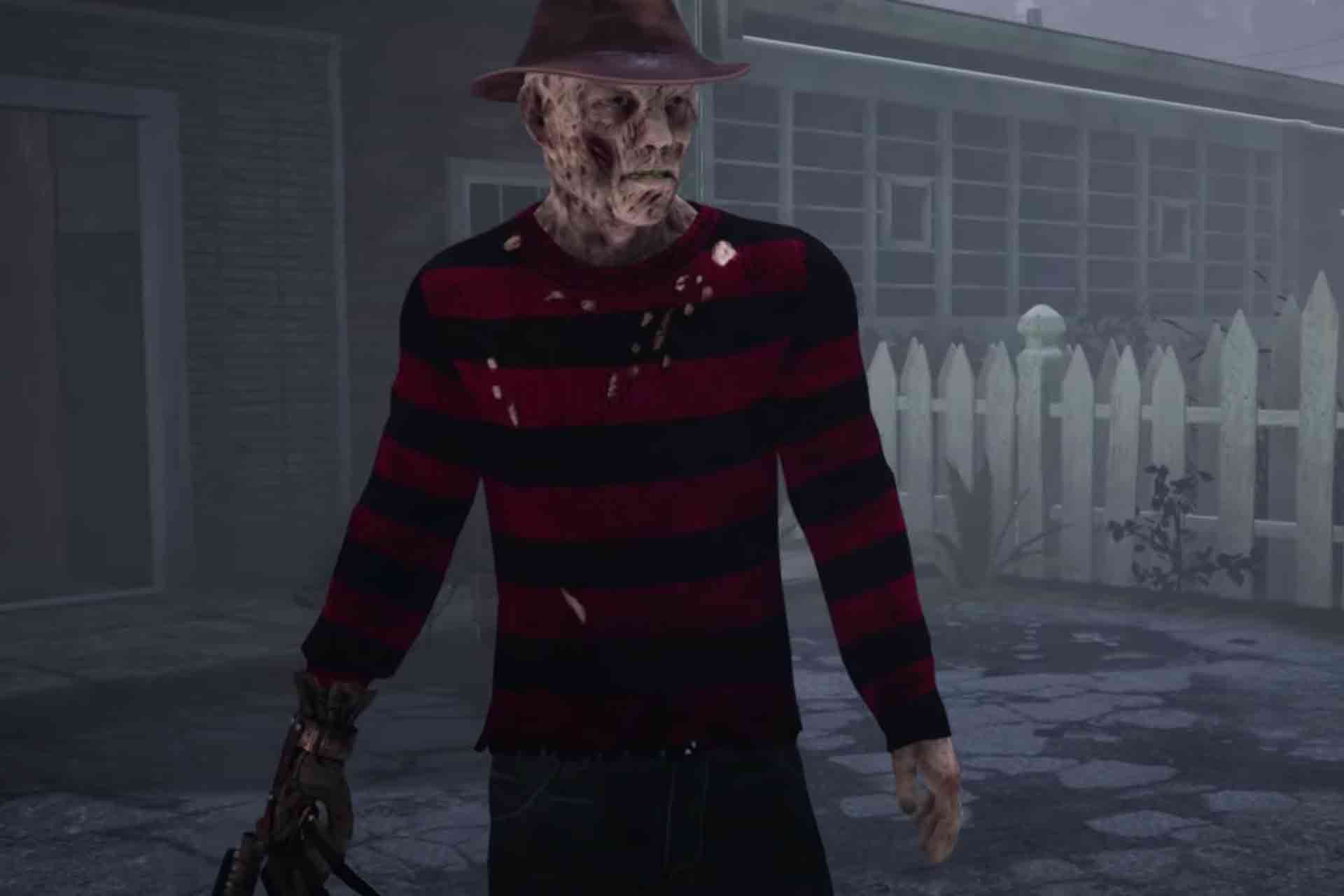 Freddy Krueger from the Nightmare on Elm Street movie series is a killer character in Dead by Daylight game.