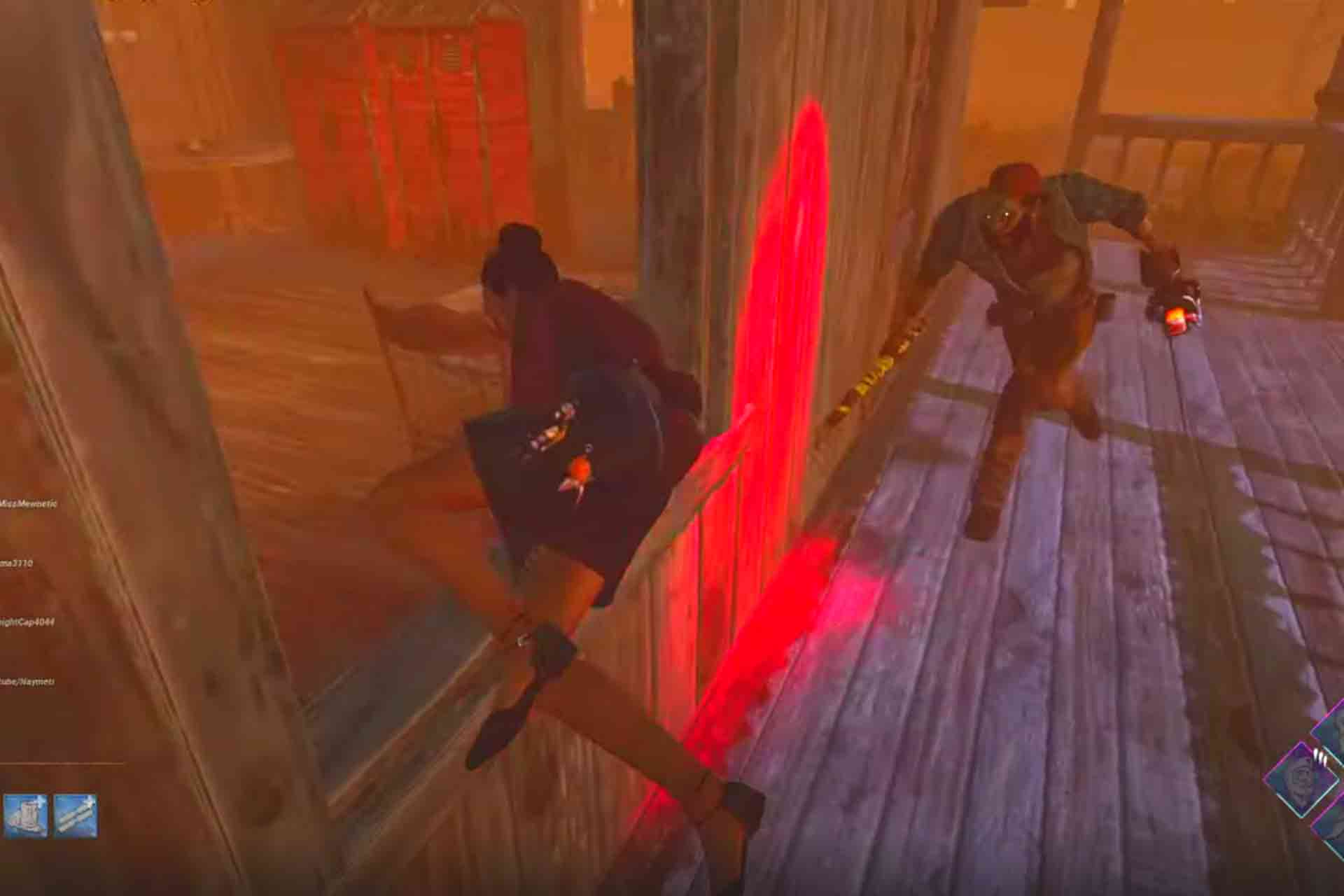 Vaulting windows is a way to escape the killer in Dead by Daylight game.