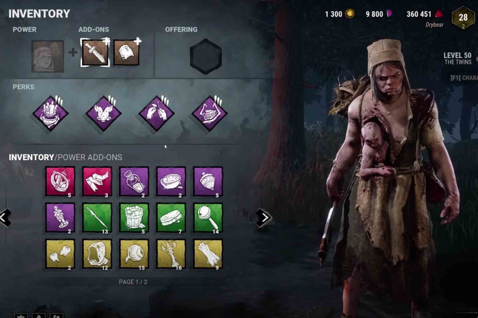 Customisation of Killer characters in Dead by Daylight game by adding Power, ADD-Ons and Perks.