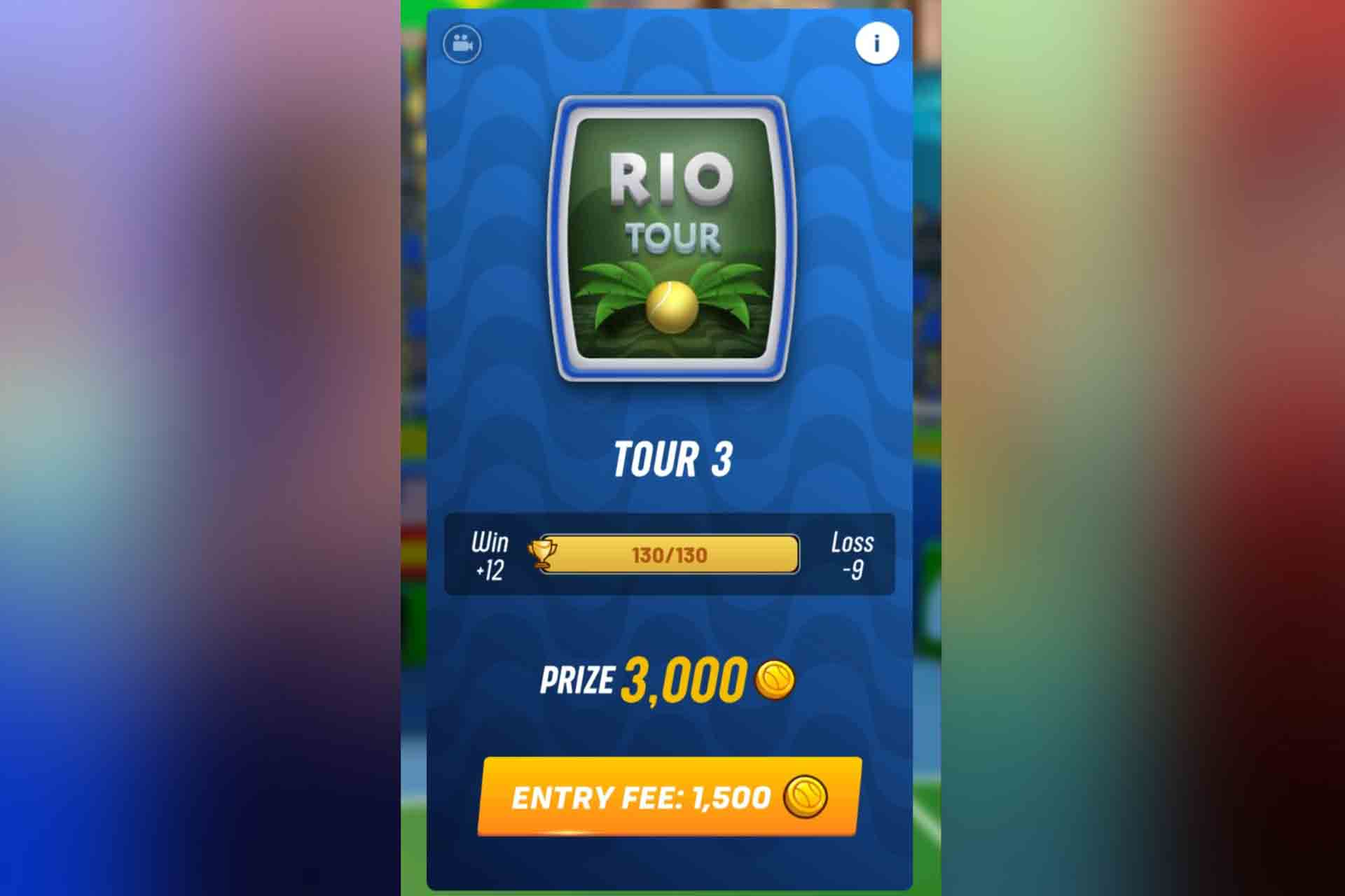 Tour 3 in Tennis Clash is the Rio Tour. It unlocks with 60 trophies.