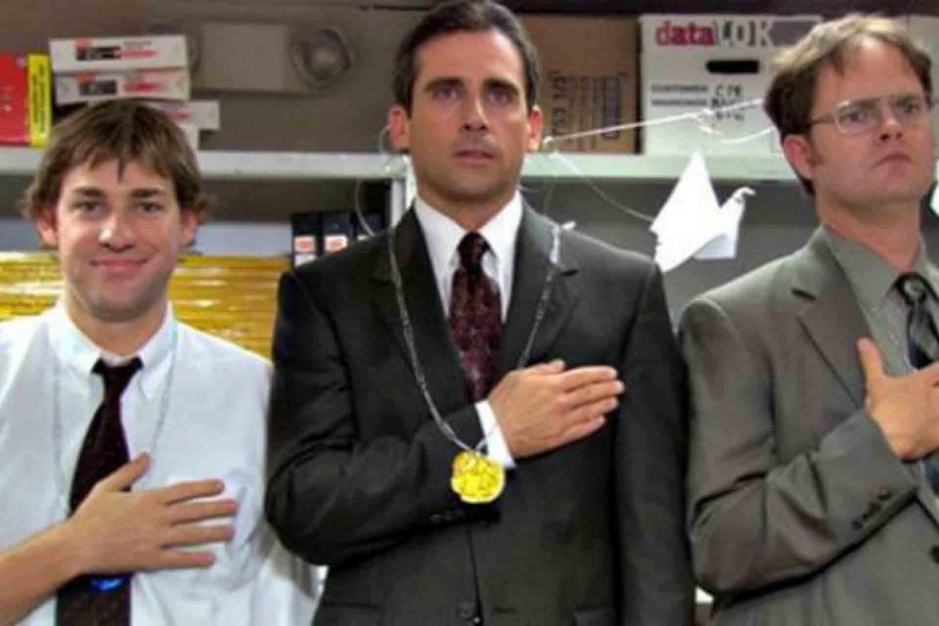 Michael Scott in the Office Olympics.