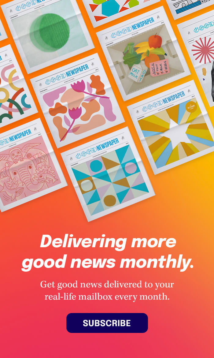 Delivering more good news monthly — Get the Goodnewspaper