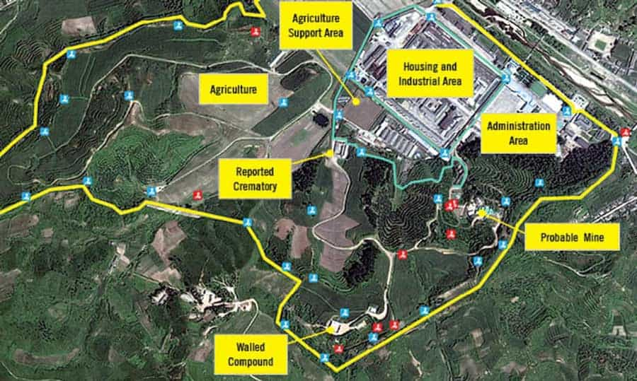 Satellite imagery of North Korea's network of political prison camps