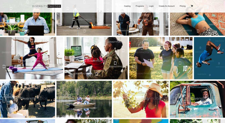 Diverse Photos stock photography