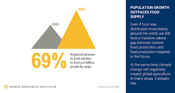 pynk community world grpwth vs food supply graphic
