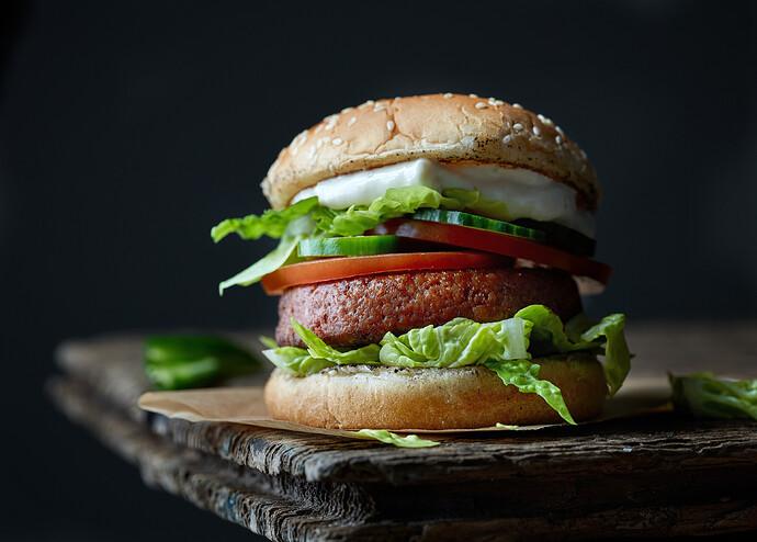 meat free burger image pynk community