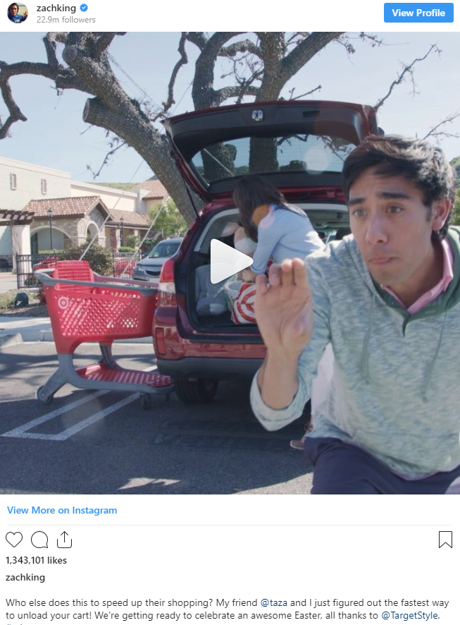 Zachking instagram post