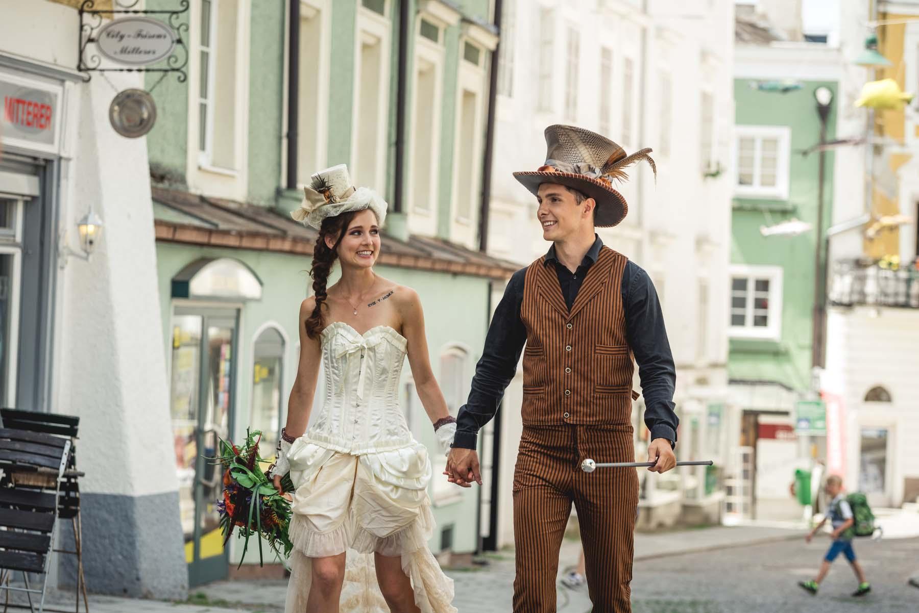 Willy Wonka inspired Wedding in Gmunden