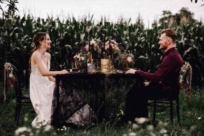 Edgy Glam – Hochzeit mit spannendem Stilbruch