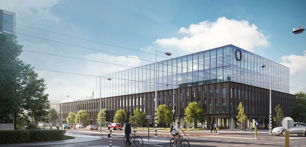A new, smart, and state-of-the-art building at the Zuidas in Amsterdam. Picture: Ossip van Duivenbode and Edge Technologies.