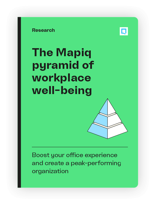 The Mapiq pyramid of workplace well-being