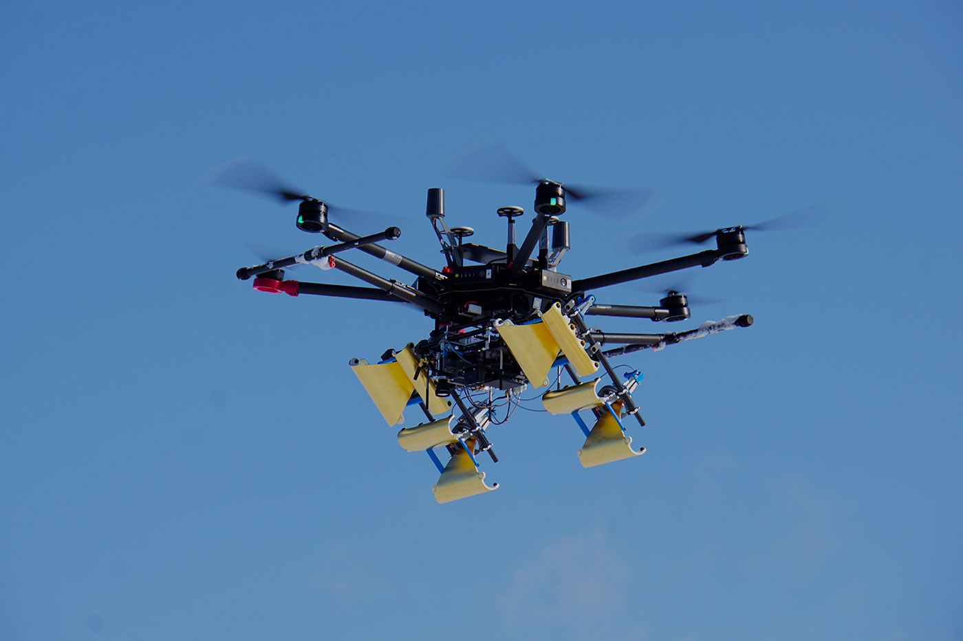 Drone flying in the sky