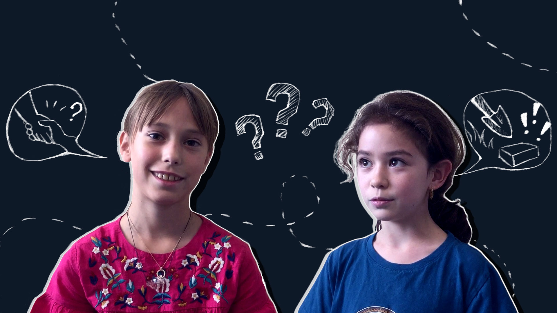 Two children's profile pictures