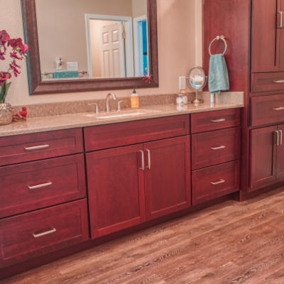 EZBath is a proud dealer of Bishop Cabinets. American made cabinets built in Alabama.