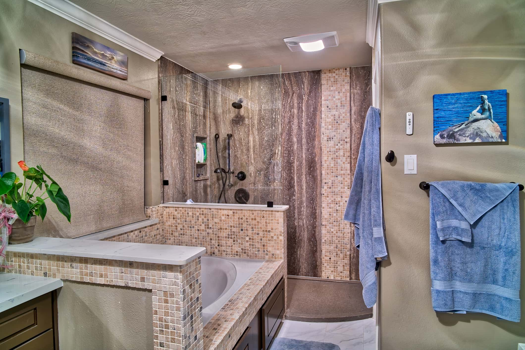 A before picture of a bathroom we remodeled in Spring TX.