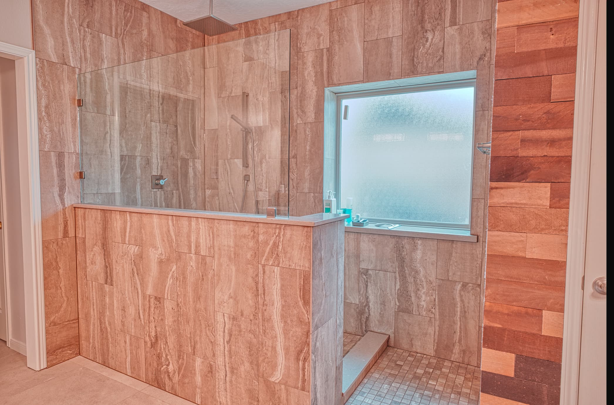 Walk In Shower Using Tile with Schluter
