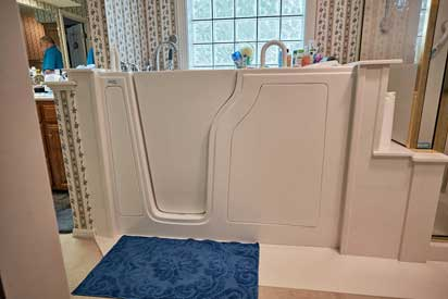 Our walk in tubs by American Tubs are made of high quality acrylic and are super easy to maintain.